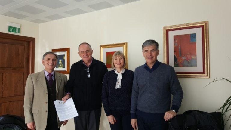 Foto di Aldo Aledda: da sinistra: Alfio Camarda, Paolo Lostia, Joanne Woolgar e Paolo Rossetti.