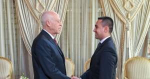 Nella foto: il Ministro degli Affari Esteri,  Luigi di Maio e l'Ambasciatore d'Italia a Tunisi, Lorenzo Fanara.
